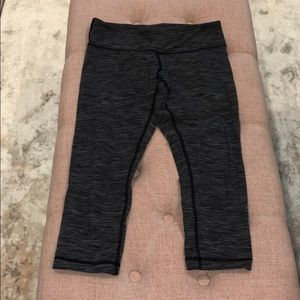 Lululemon size 6 knit Gray Crops